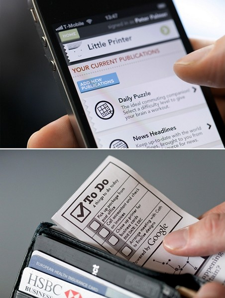 Little Printer, который переносит ленту интернет-новостей на бумажную ленту