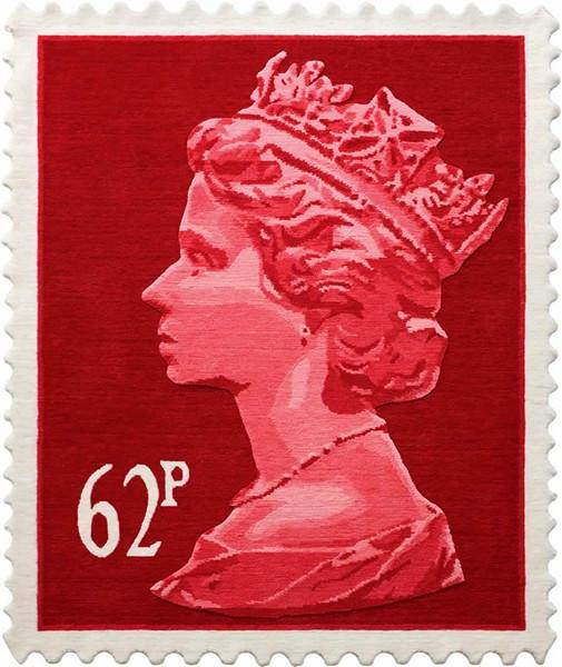 Шерстяные ковры в виде традиционной британской почтовой марки