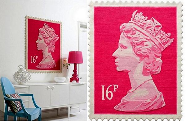 Postage Stamp Rug, шерстяные ковры в виде британской марки