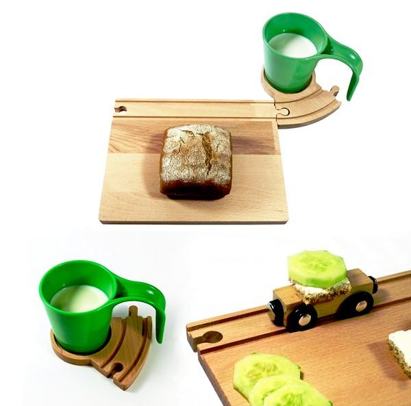Train Breakfast Set, набор детской игровой посуды