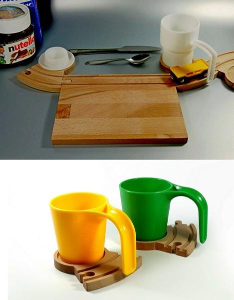 Train Breakfast Set, деревянная посуда от компании Neue Freunde