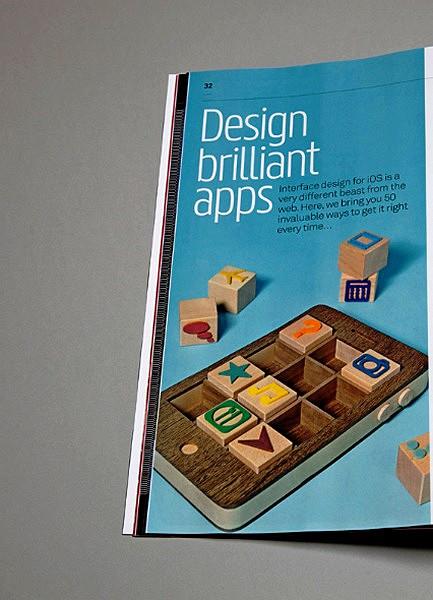 Деревянный iPhone в журнале Computer Arts