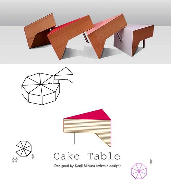 Разноцветные модули, они же кусочки торта Cake Table от студии Mizmiz design