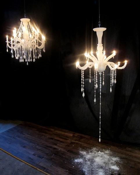 Восковая люстра-свечка Candelier
