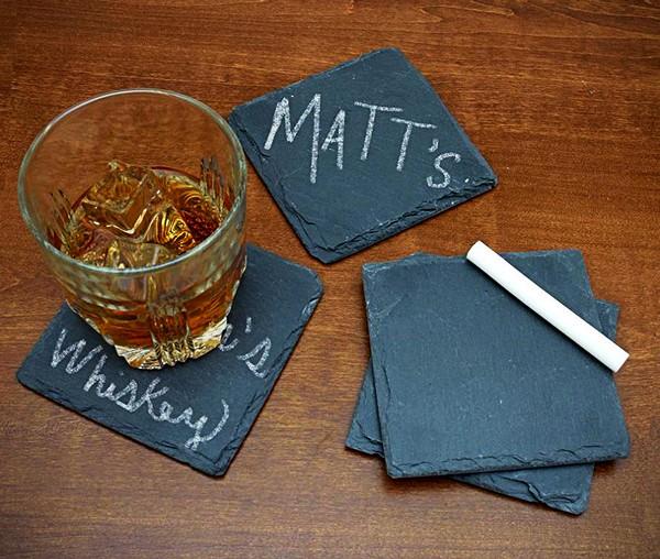 Chalk it Up, набор *школьных* подставок под стаканы