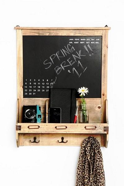 Chalkboard Calendar, винтажный календарь для записей мелом