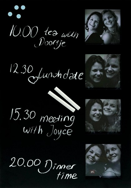 Multi-Photo Chalkboard Frame, рамка для фото, подписанных мелом