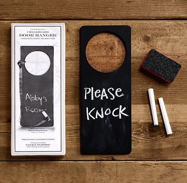 Chalkboard Door Hanger, ярлык на двери вместо школьной доски
