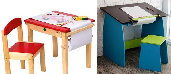 Детский столик для будущего автора чертежей и эскизов