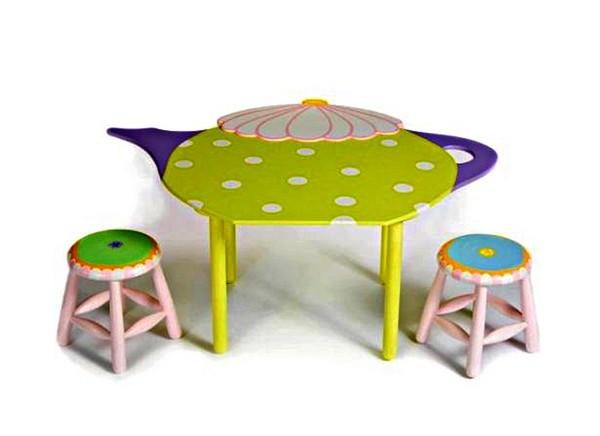 TableTot, детская мебель в виде игрушечной посуды