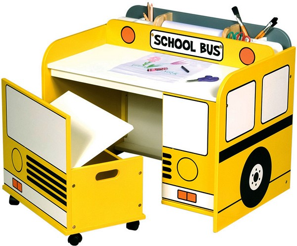Детский столик в виде автобуса, School Bus Desk