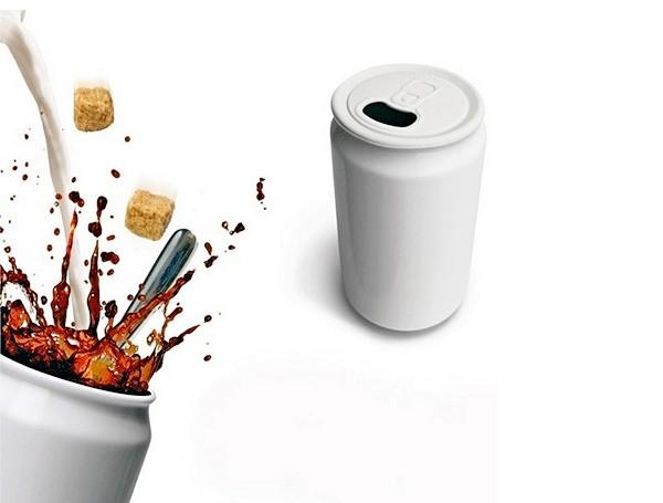 Фарфоровая чашка для горячего в виде баночки для Coca-Cola