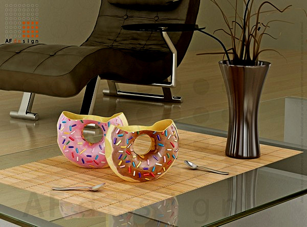 Кружки в виде пончиков. Docups от Андреа Филогонио (Andrea Filogonio)
