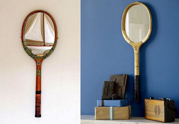 Tennisracket Mirrors, зеркала-ракетки для тенниса