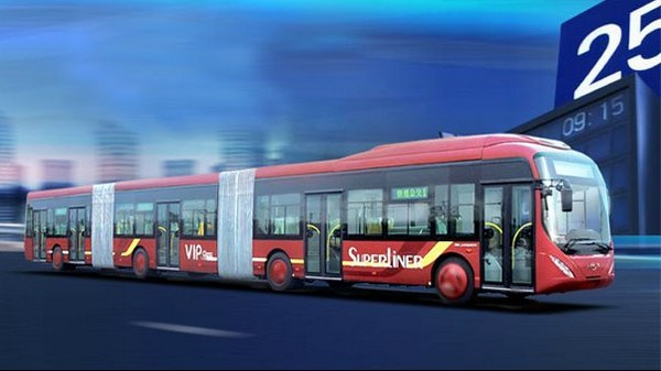 Youngman Bus – самый длинный автобус в мире