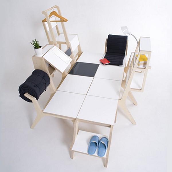 Восемь стульев в качестве кровати. Дизайнерская мебель от Seung-Yong Song