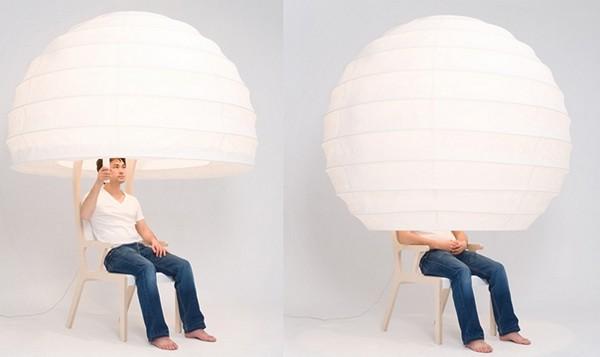 Стул-светильник Objet О от Seung-Yong Song