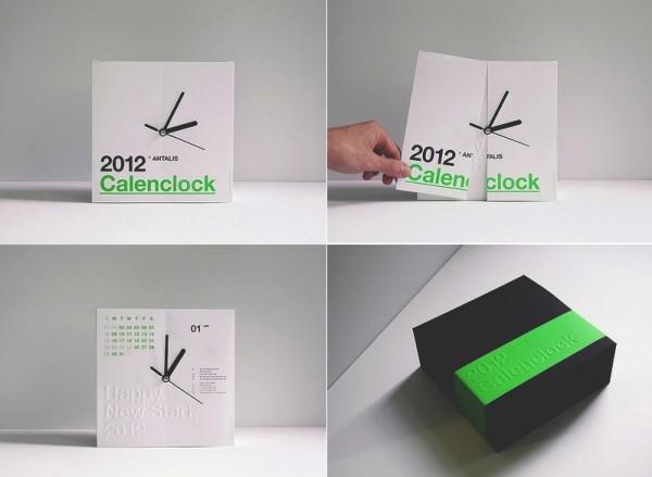 Два в одном. Концепт CalenClock, отрывной календарь и часы от Ken Lo
