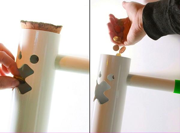 Crunch Box, мультифункциональная глиняная копилка в виде тубуса