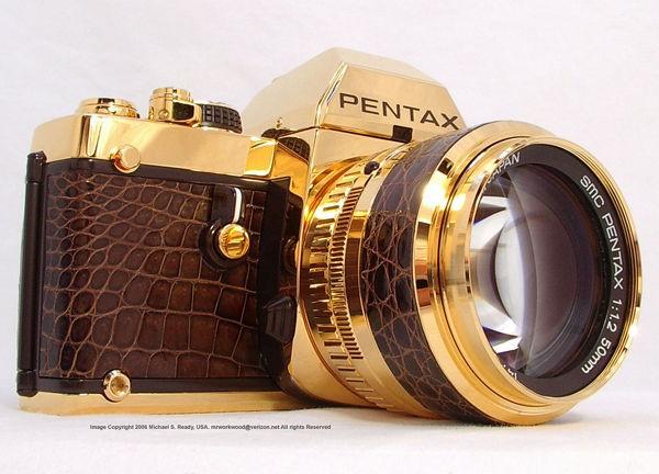 Pentax LX Gold, фотоаппарат с корпусом из 18-каратного золота