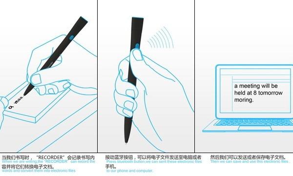 Recorder Pen, волшебная ручка с памятью и Bluetooth