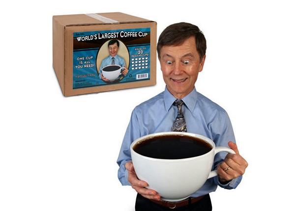 World's Largest Coffee Cup: чашка кофе для чемпиона от Archie McPhee & Co