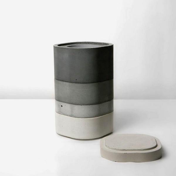 Модульные бетонные вазы Konkurito vases