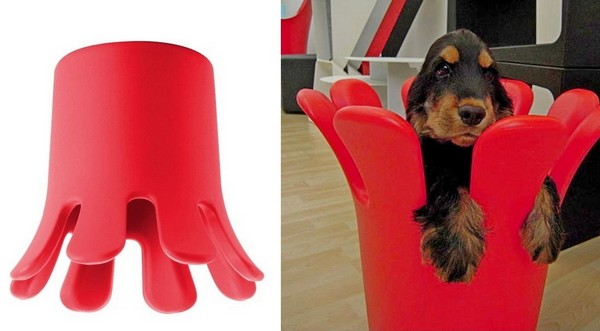 Splash, многофункциональная мебель в виде всплеска воды от дизайнера Кристиана Ауса