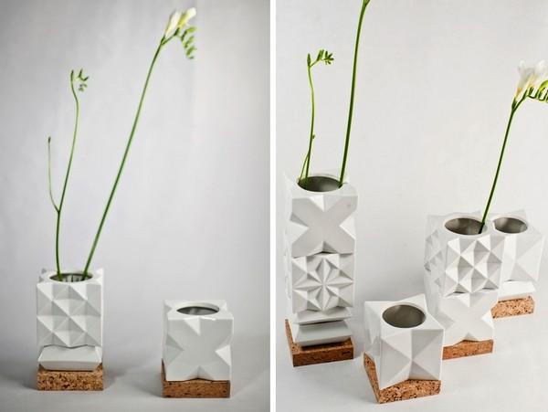 Чашки, подставки и вазочки из серии Kopia. Модульная посуда от Istvan Bojte