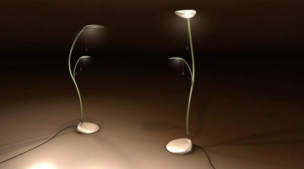 Leaf Lamp, концептуальный торшер в виде необычного растения от Sofian Tallal