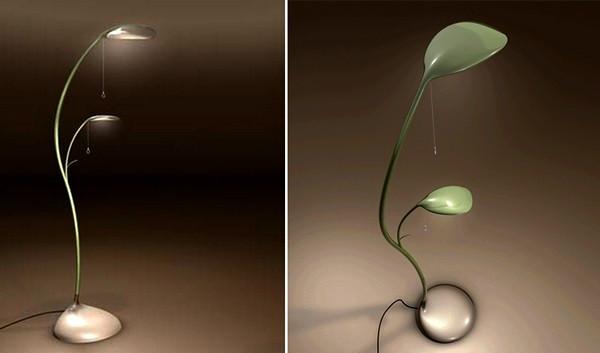 Растение-торшер и растение-бра, проект Leaf Lamp от Sofian Tallal