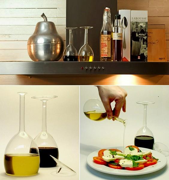 Oil & Vinegar Set в виде перевернутого бокала