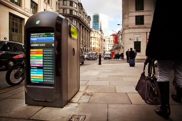 Инновационные урны Renew Bin на улицах Лондона