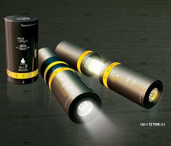 Rescue Flashlight, тройной фонарик для спецагентов или туристов