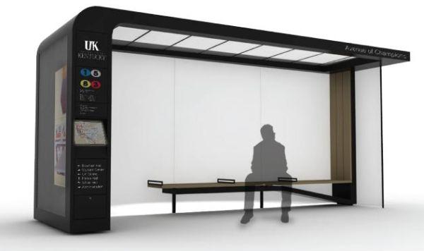 Bus Shelter System and City Furniture – остановка для любителей информации и современного искусства