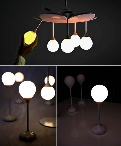Люстра Drop Light из фонариков-капель