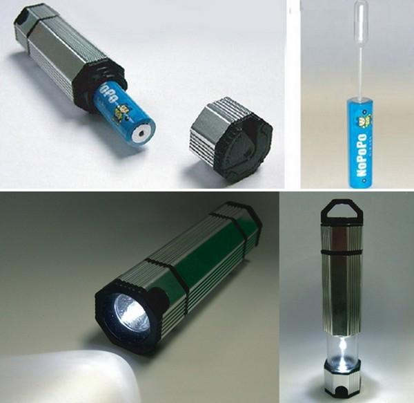 Water Powered Torch, фонарик на энергии воды