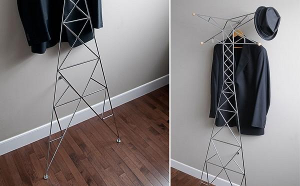 Nanton Coat Rack, домашняя вышка ЛЭП для одежды и шапок