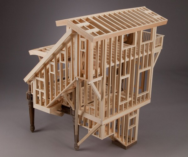 Необычное деревянное кресло Sit Stay  как мебель и арт-объект