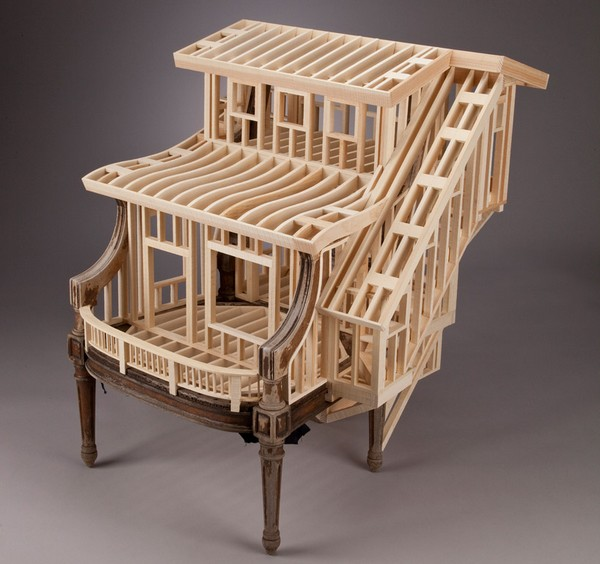Sit Stay, креативное кресло из дерева от дизайнера Теда Лотта