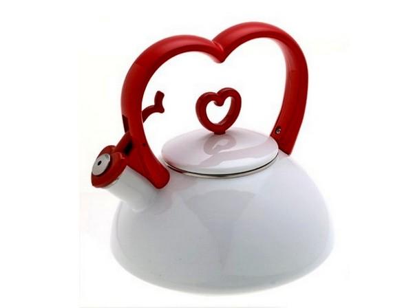 Чайник в стиле Дня Святого  Валентина для романтического чаепития