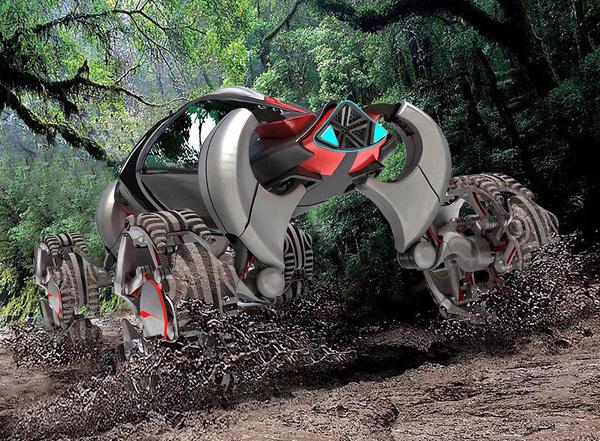 U-Wall Lizard – автомобиль, вдохновленный рептилиями