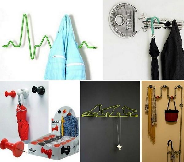 Обзор необычных вешалок и крючков для одежды