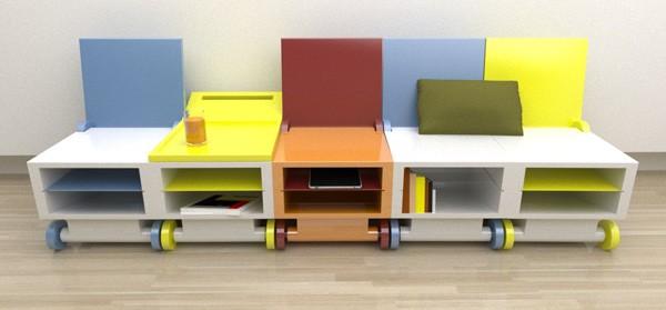 Концептуальный стул, он же стол Flippo chair от Paulo Corceiro