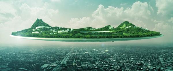 Летающий город Heaven and Earth