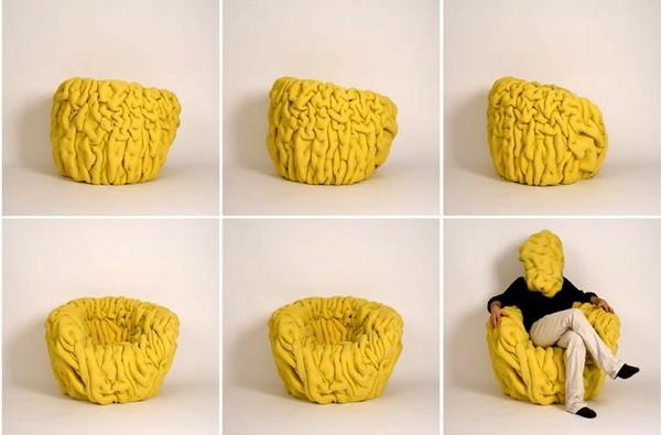 Загадочное кресло-шарпей. Ondule lounge chair от Маттиса Эно (Mattis Esnault)