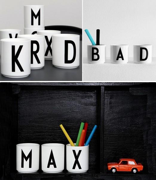 Alfabet Cups. Дизайнерские кружки с алфавитом от Arne Jacobsen