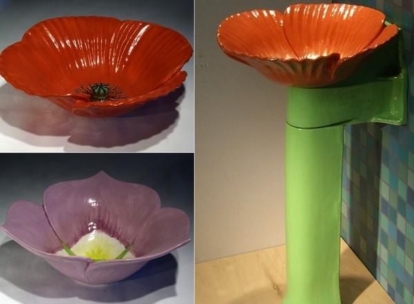 Креативные фонтанчики для питья в виде цветов