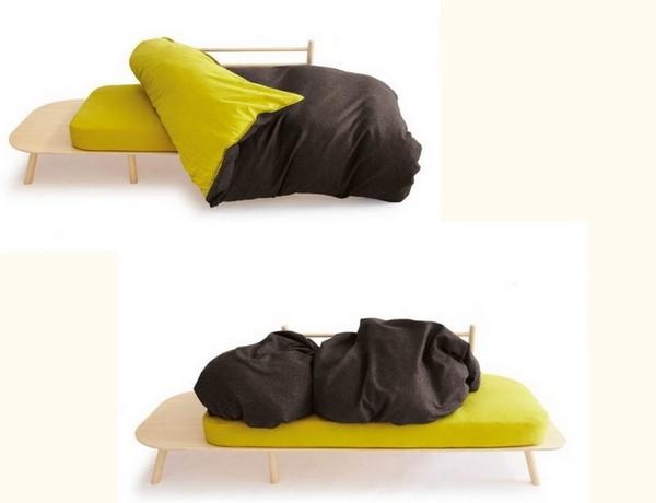 Disfatto, мягкая мебель с мультифункциональным покрывалом