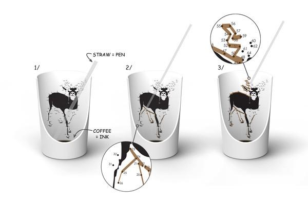 Нескучная чашка для кофе Doodle Cup